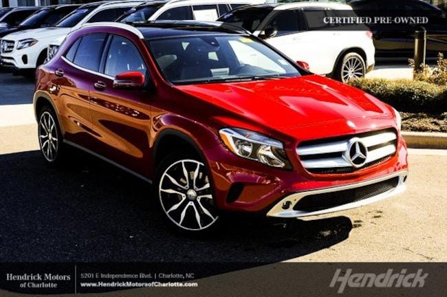 Certified 2016 Mercedes-Benz GLA 250 SUV Charlotte
