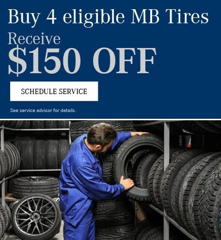 Buy 4 Tires get $150 OFF
