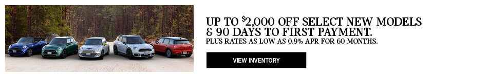 $2k Off New Models & 90 Day Deferred Payment