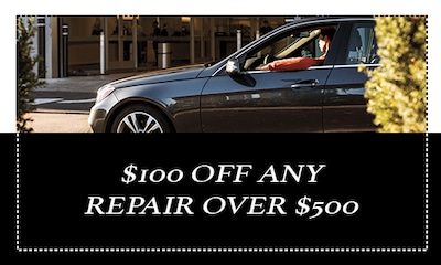 $100 off any repair (parts & labor) over $500