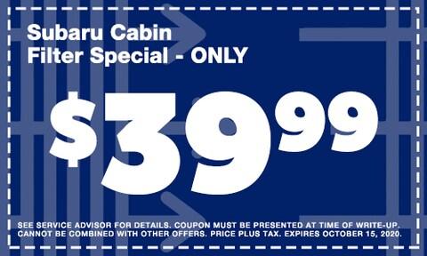 September Cabin Filter Special