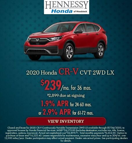2020 Honda CR-V CVT 2WD LX - June 2020