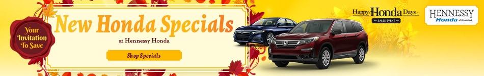 New Honda Specials - November 2020