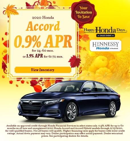 2020 Honda Accord - November 2020