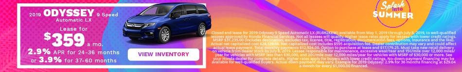 New 2019 Honda Odyssey 6/6/2019