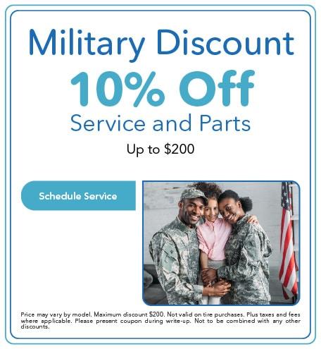 Military Discount - April 2021