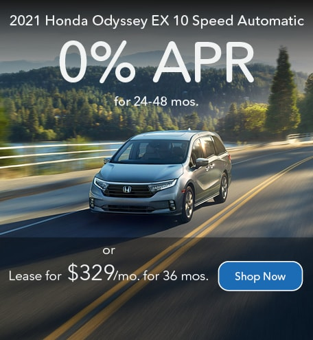 2021 Honda Odyssey EX 10 Speed Automatic - March 2021