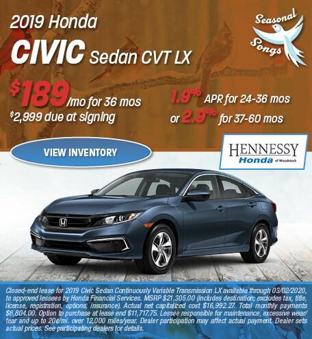 2019 Honda Civic Sedan CVT LX