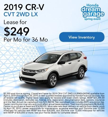 OT 2019 CR-V CVT 2WD LX 4/9/2019