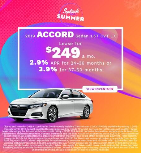 New 2019 Honda Accord 6/6/2019