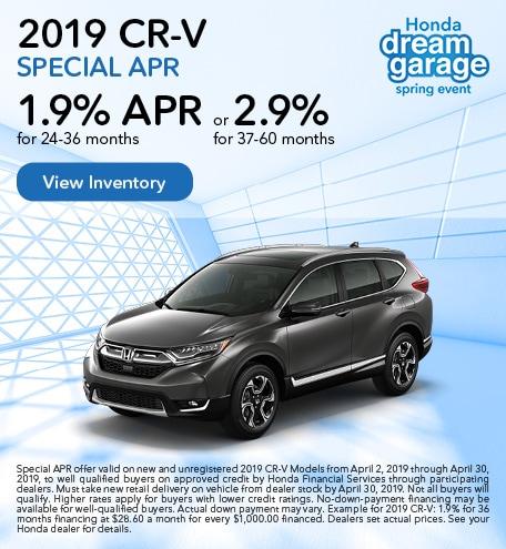 OT 2019 CR-V Special APR 4/9/2019