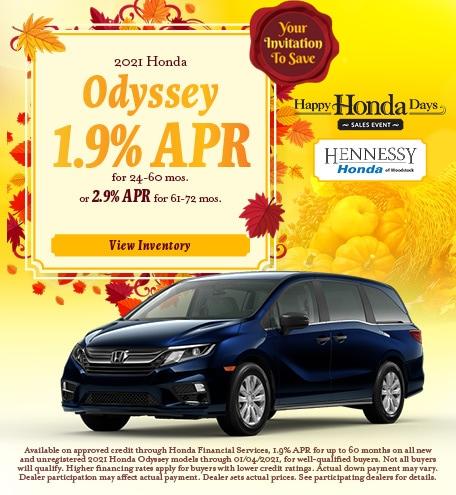 2021 Honda Odyssey - November 2020