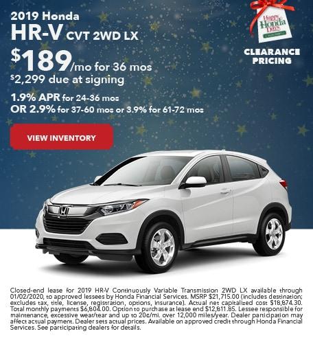 New 2019 Honda HR-V - December 2019