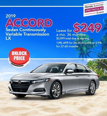 New 2019 Honda Accord 7/22/2019
