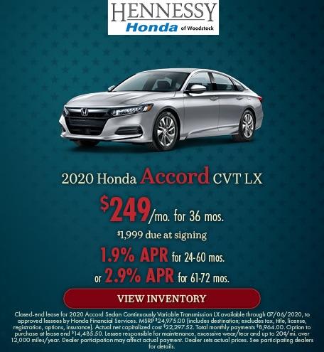 2020 Honda Accord CVT LX - June 2020
