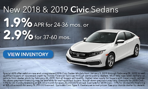 New 2018 & 2019 Honda Civic APR