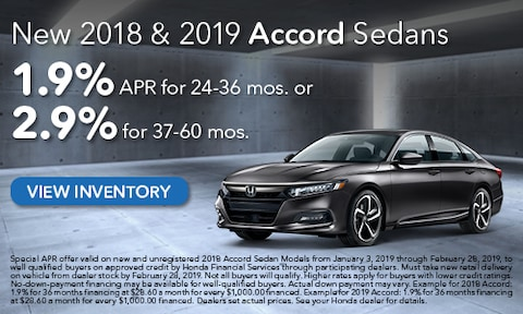 New 2018 & 2019 Honda Accord APR
