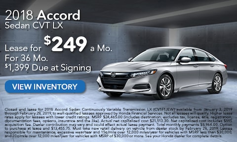 New 2018 Honda Accord Lease