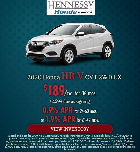 2020 Honda HR-V CVT 2WD LX - June 2020