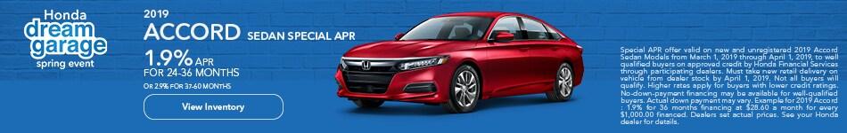New 2019 Honda Accord APR 3/8