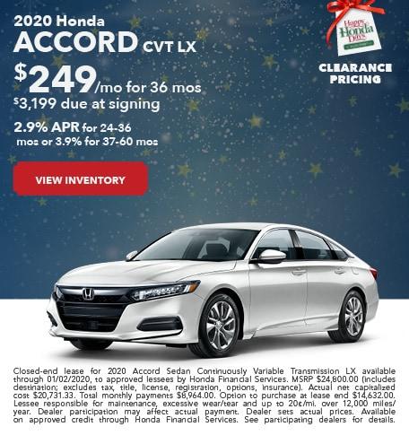 New 2020 Honda Accord - December 2019