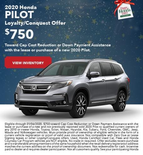 New 2020 Honda Pilot - December 2019