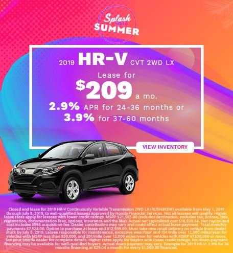New 2019 Honda HR-V 6/6/2019