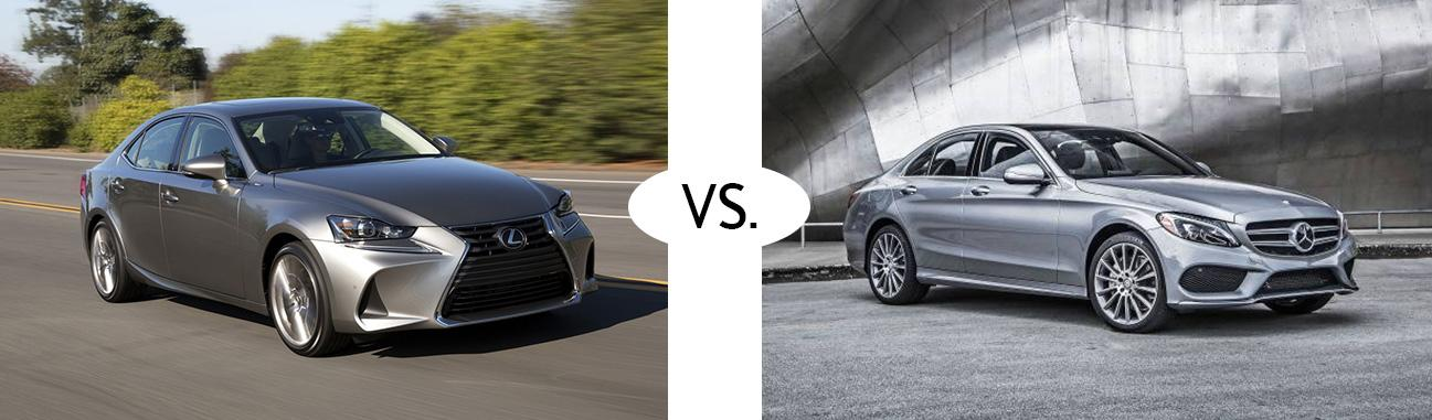 2018 Lexus IS vs 2018 Mercedes Benz C300
