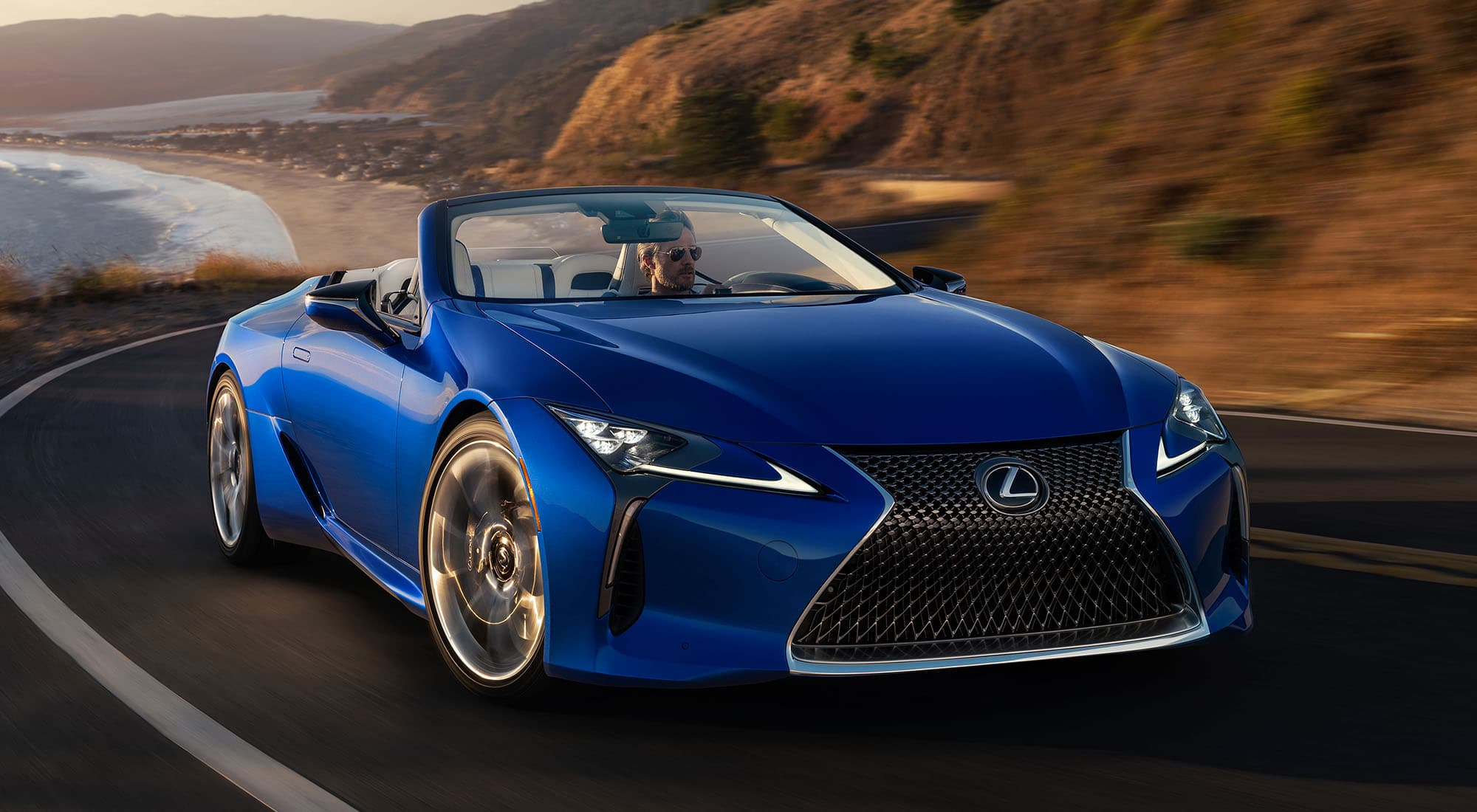 Driving Lexus LC 500 Convertible