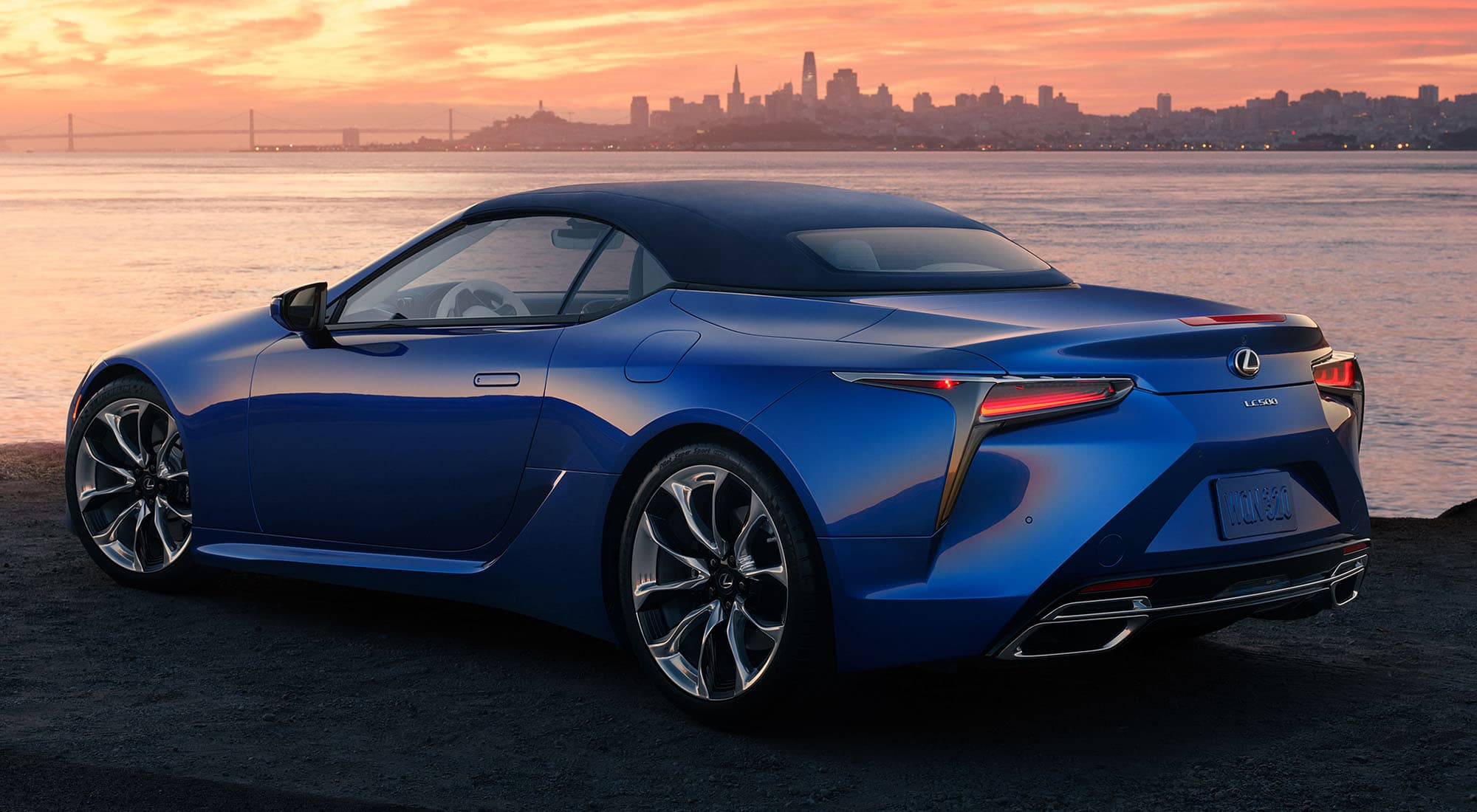 2020 Lexus LC 500 Convertible Rear