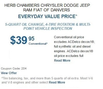 Service Specials Herb Chambers Chrysler Dodge Jeep Ram Fiat Of Danvers