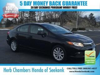 Bargain 2012 Honda Civic EX Sedan O68109A Seekonk,MA