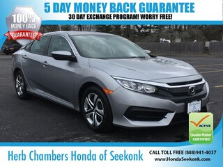 Certified Pre-Owned 2016 Honda Civic LX Sedan O68668 in the Boston area