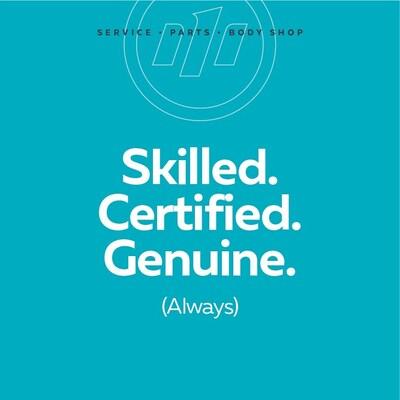 Skilled. Certified. Genuine.