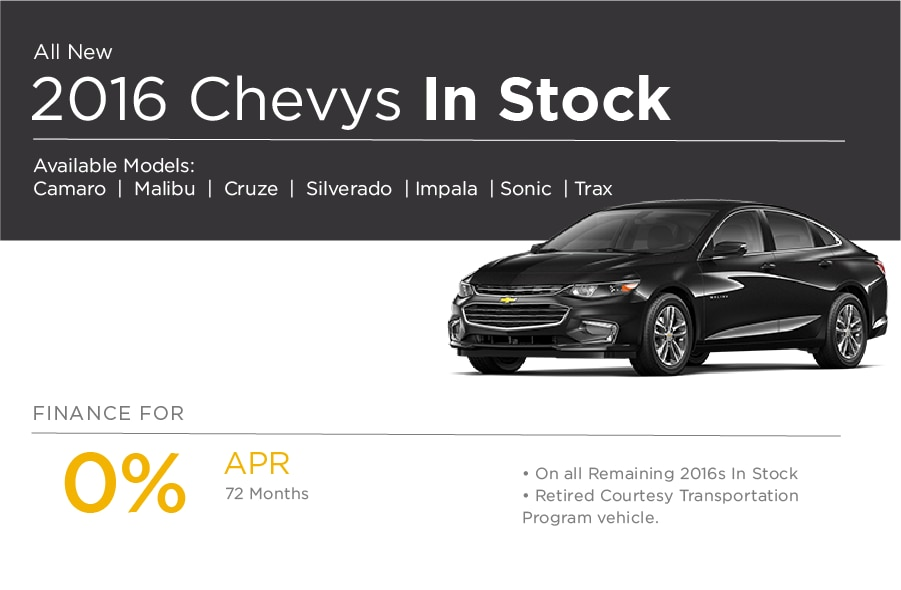 All New 2016 Chevrolet Special Offer