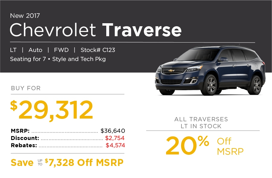 Chevrolet Traverse Special Offer