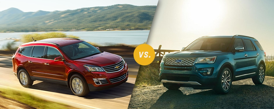 Comparison: 2017 Chevrolet Traverse vs 2017 Ford Explorer