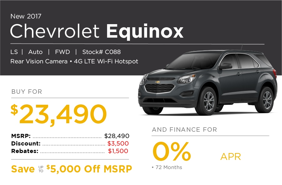 Chevrolet Equinox Lease Special Offer