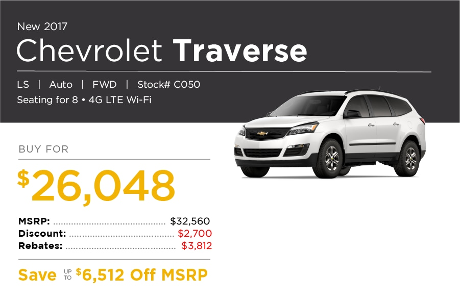 Chevrolet Traverse Lease Special Offer