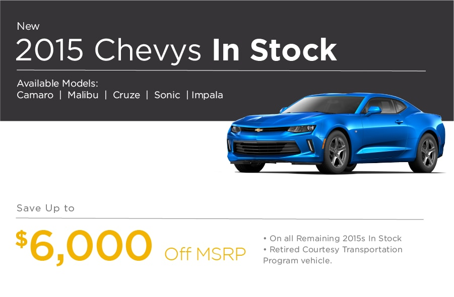 2015 New Chevrolet Special Offer