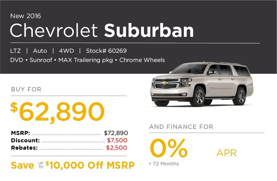 Chevrolet Suburban Special Offer