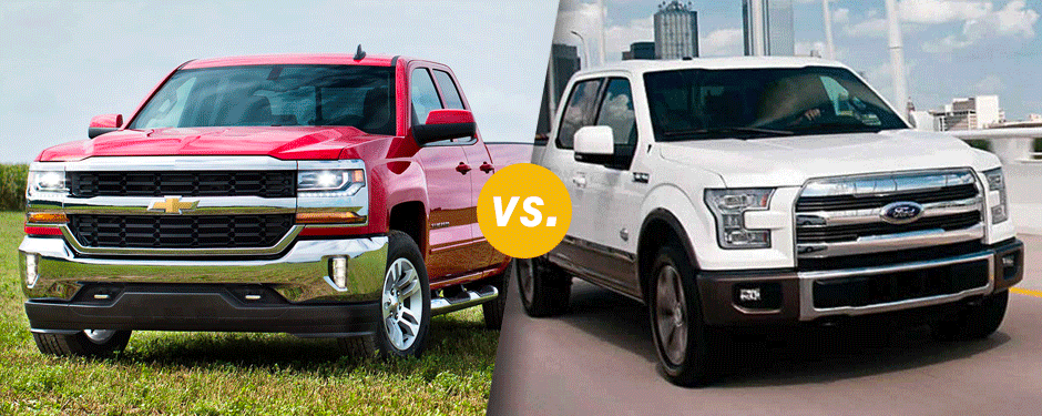 Comparison: 2017 Chevrolet Silverado 1500 vs 2017 Ford F-150