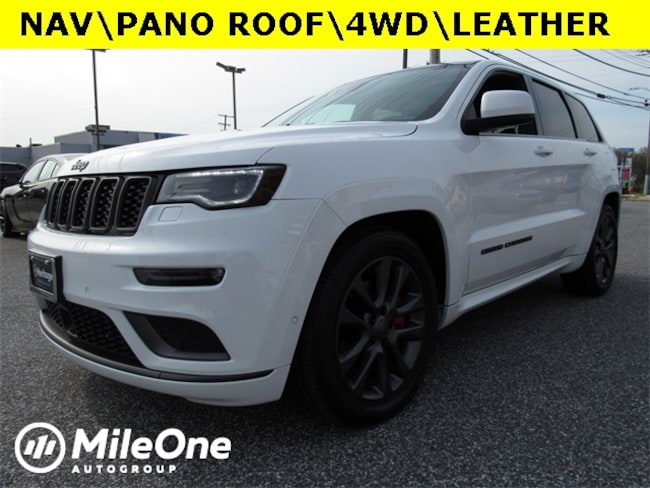 Used 2018 Jeep Grand Cherokee Overland 4x4 SUV for sale in Baltimore