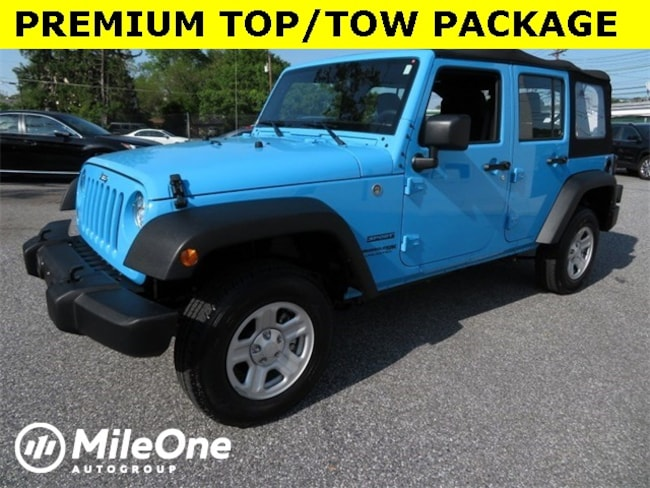 Used 2018 Jeep Wrangler JK Unlimited Sport 4x4 SUV for sale in Baltimore
