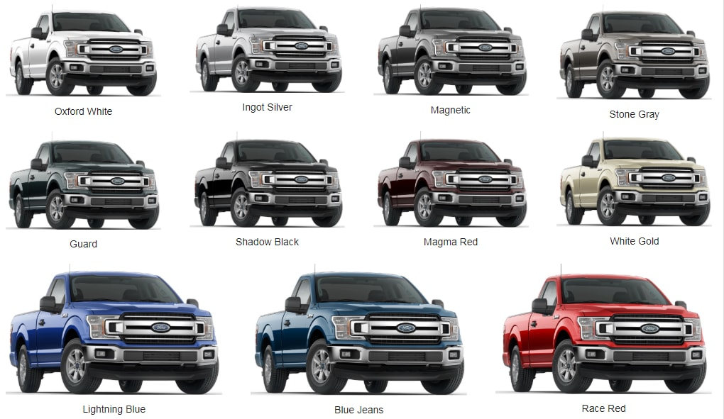 2018 F150 Colors >> 2018 Ford F 150 Color Options Heritage Ford
