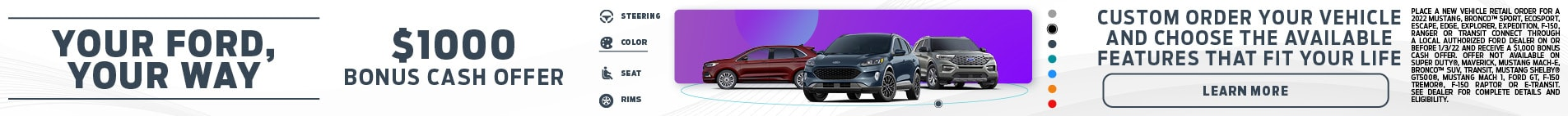 Order New Ford Models