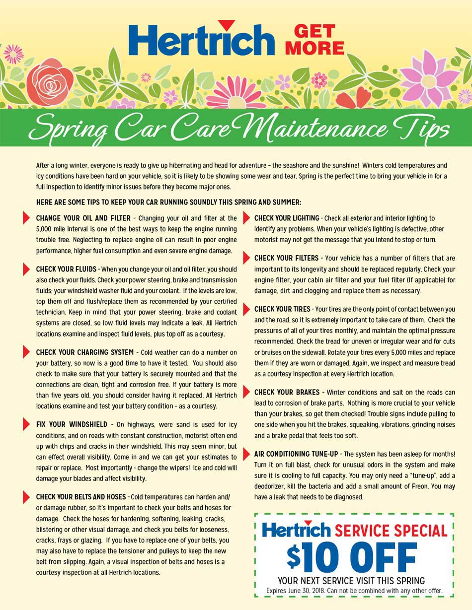 Spring Car Care Tips