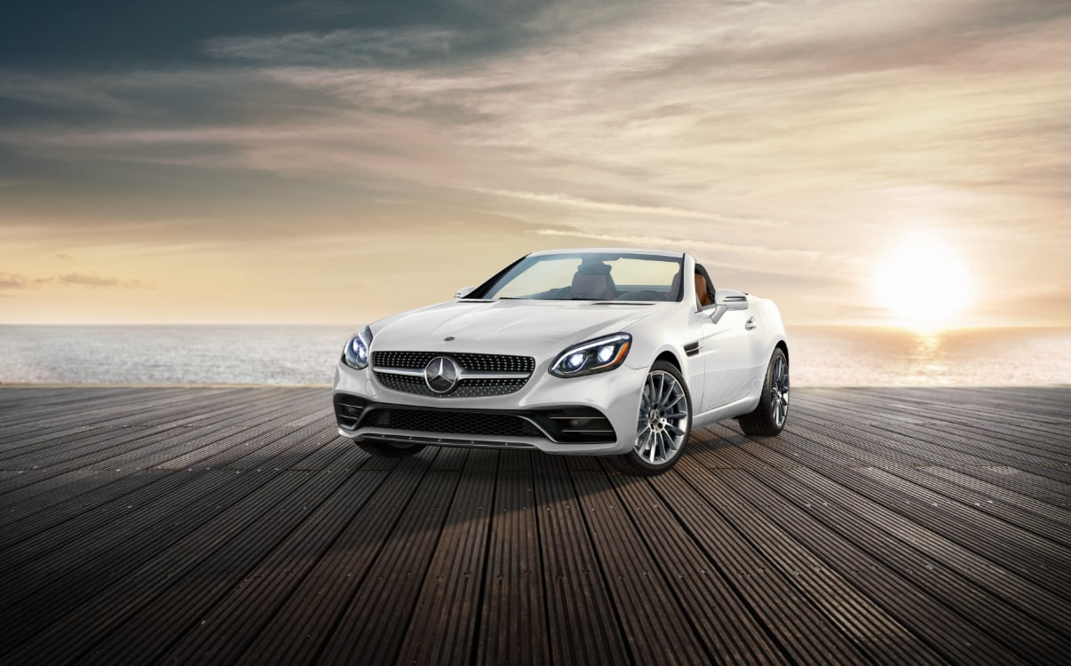 Mercedes-Benz SLC Roadster on Pier