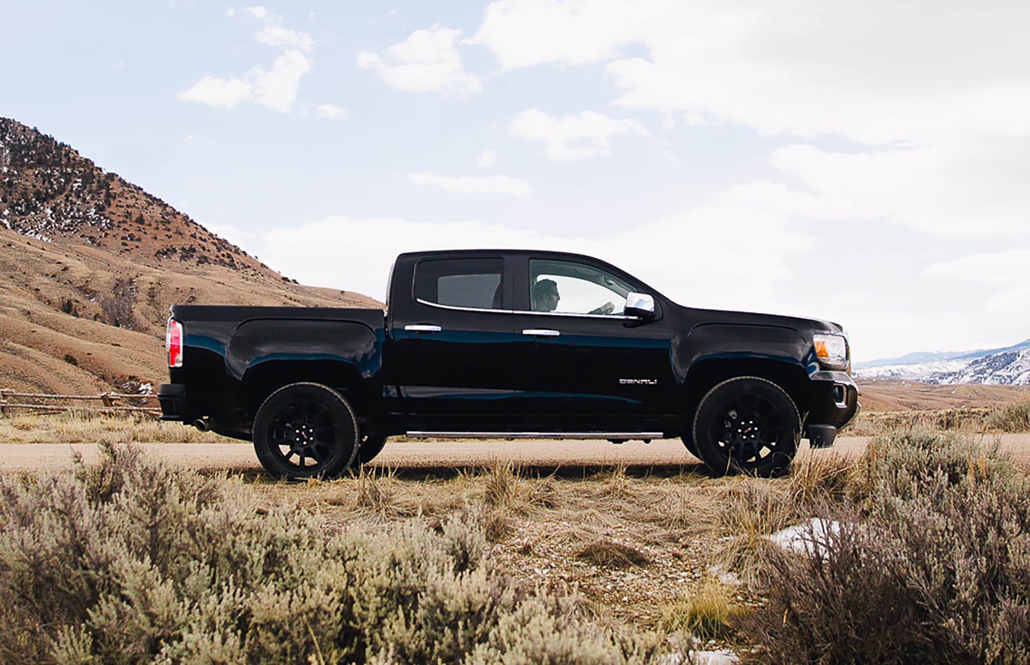 GMC Canyon in the desert