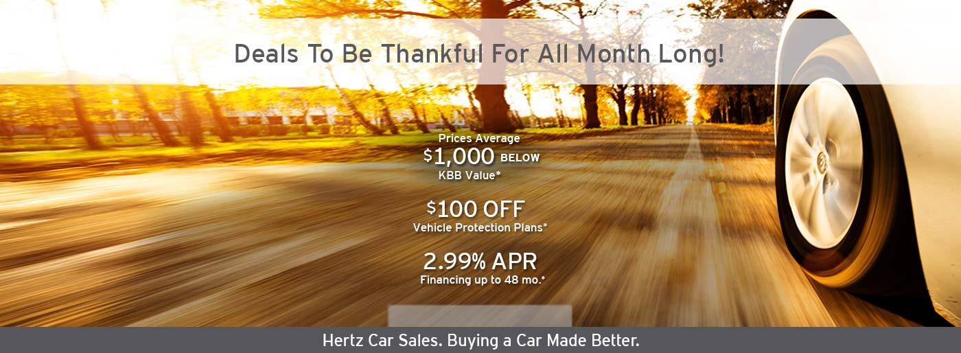 Hertz Car Sales Promotion Hertz Car Sales